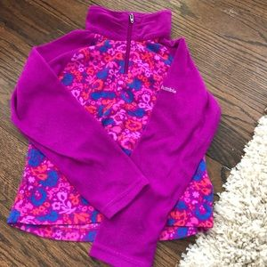 Columbia 1/2 zip fleece sweatshirt